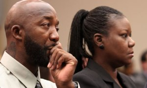 Trayvon Martin's parents in Washington DC