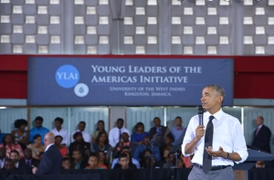 JAMAICA-US-DIPLOMACY-OBAMA-TOWN HALL